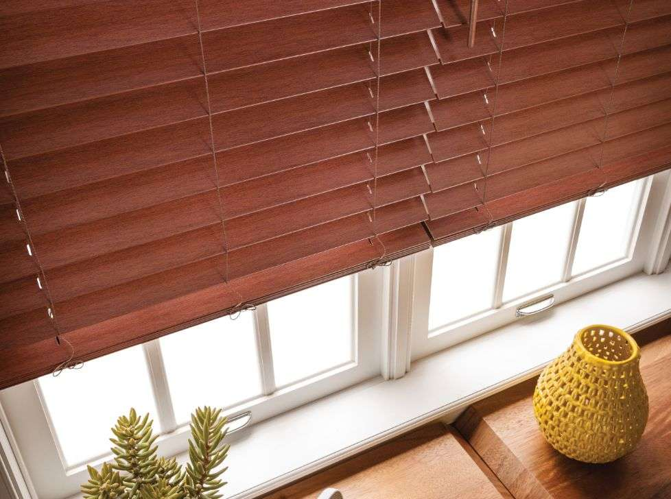 Custom Faux Wood Composite Blinds Barrie